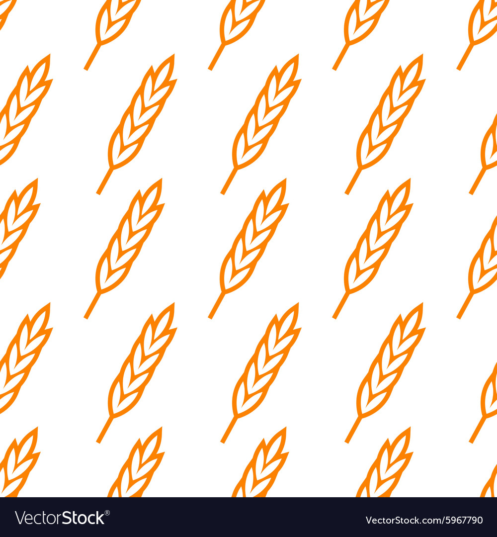 Seamless wheat ears pattern