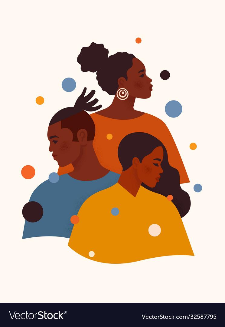 Black lives matter african american man and women