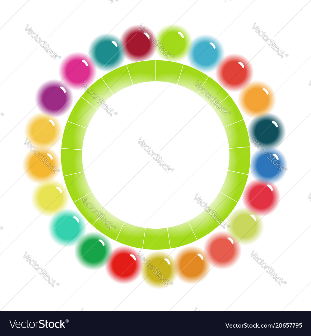 Bright colorful circular scheme template