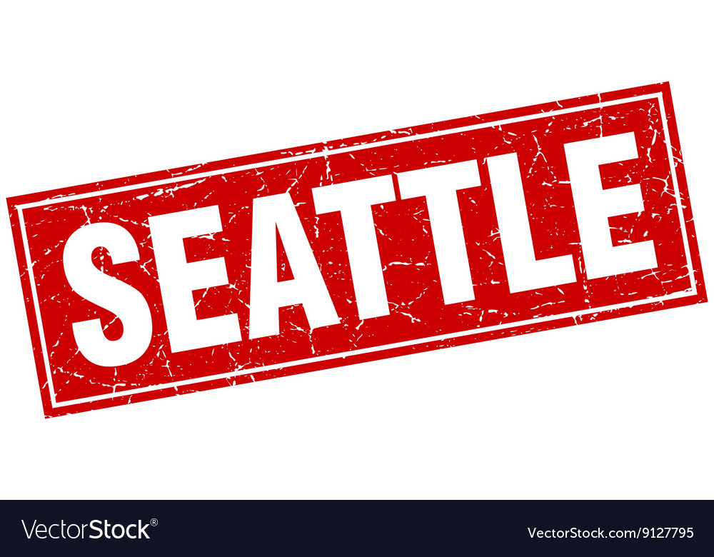 Seattle red square grunge vintage isolated stamp vector image on VectorStock