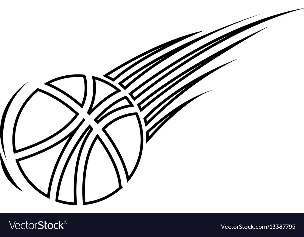 Silhouette basketball icon sport design vector image