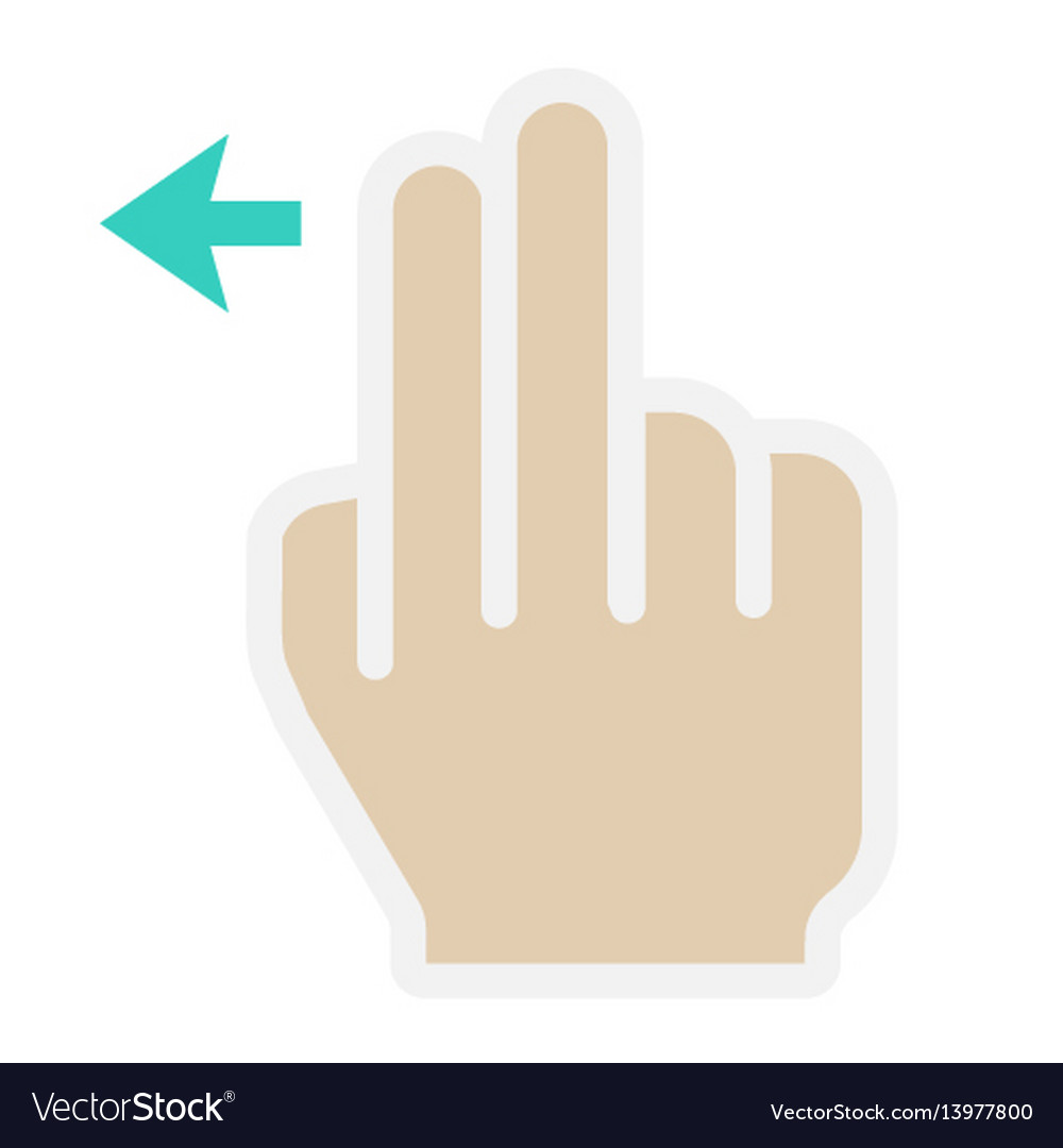 2 finger swipe left flat icon touch and gesture