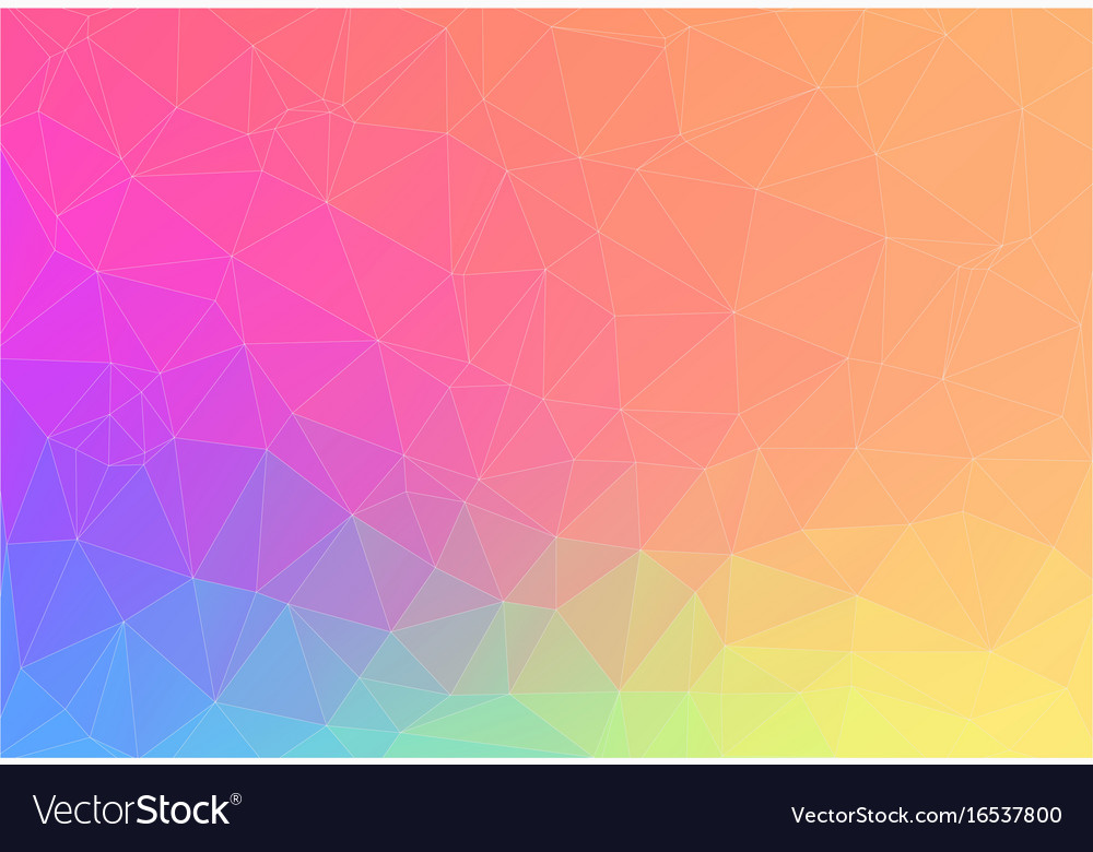 Abstract bright color triangle background vector image - 1000 color wallpapers ...