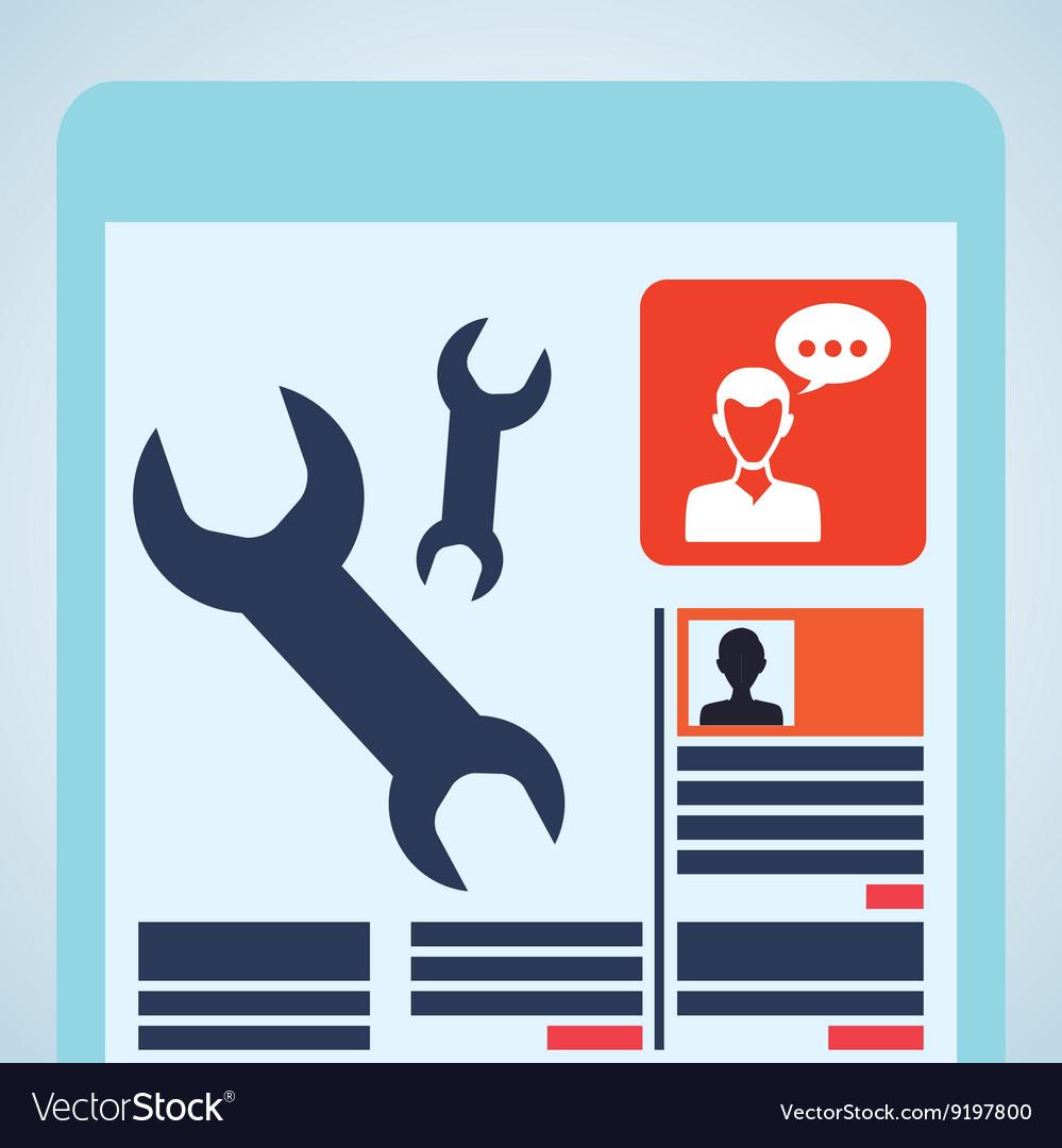Blogging design social media icon Isolated