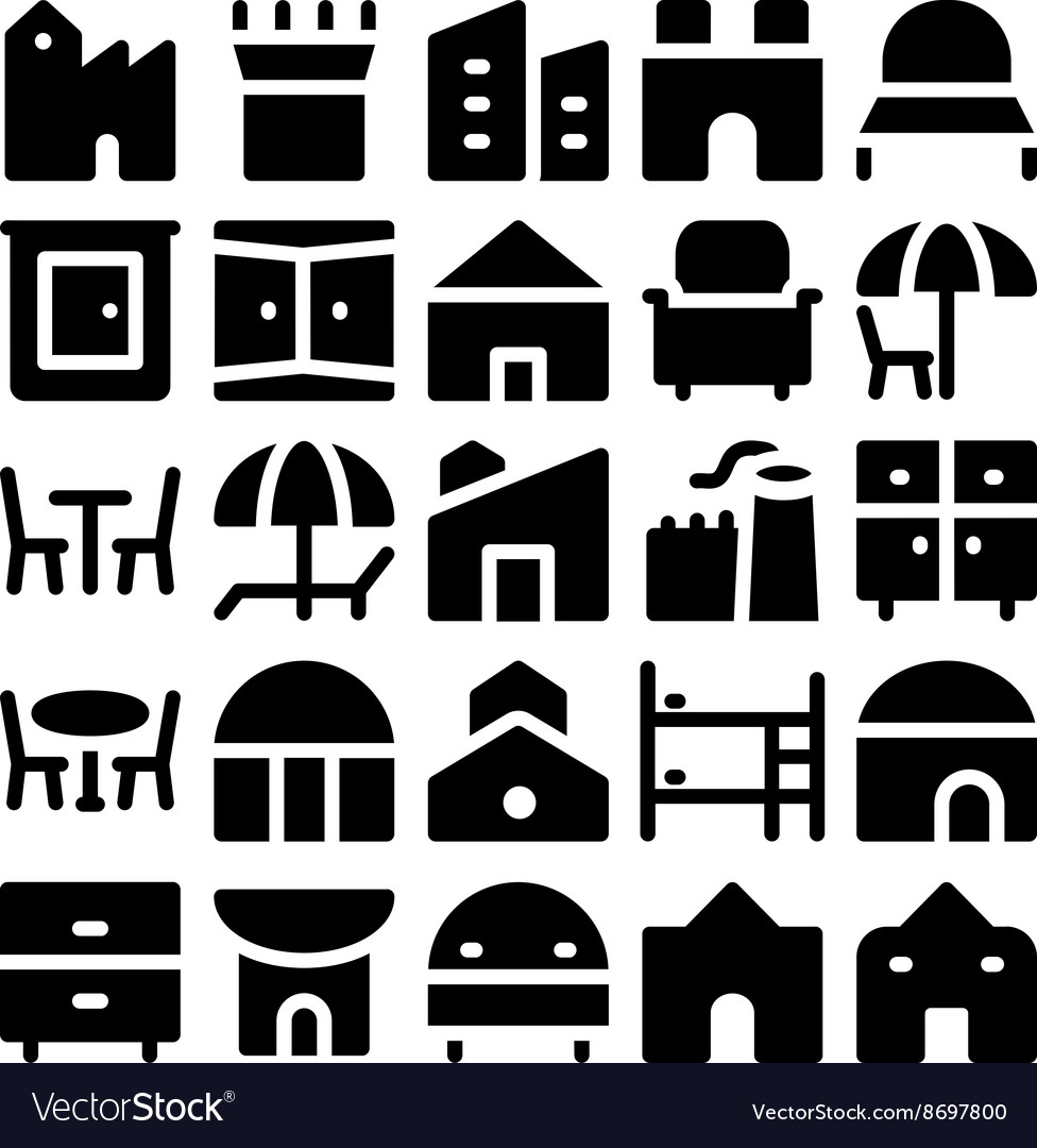 Building and Furniture Icons 12