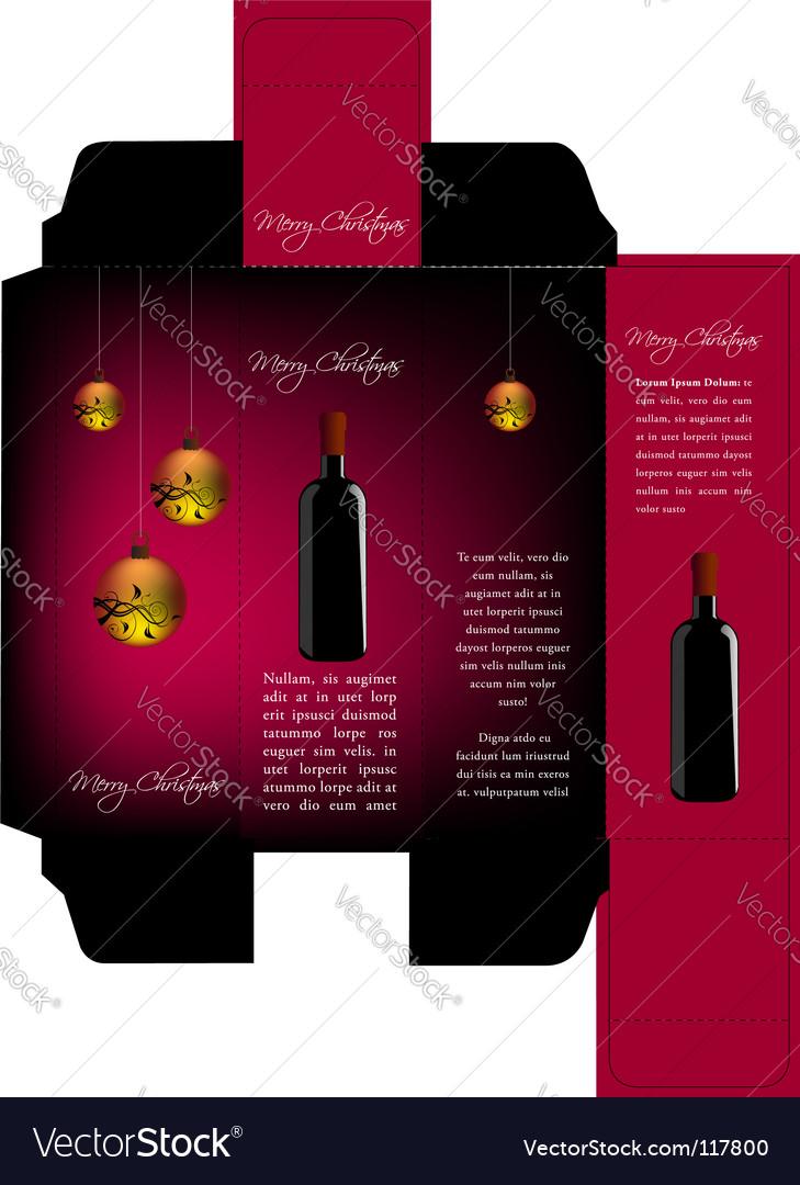 Wine Christmas Packaging.Christmas Wine Package