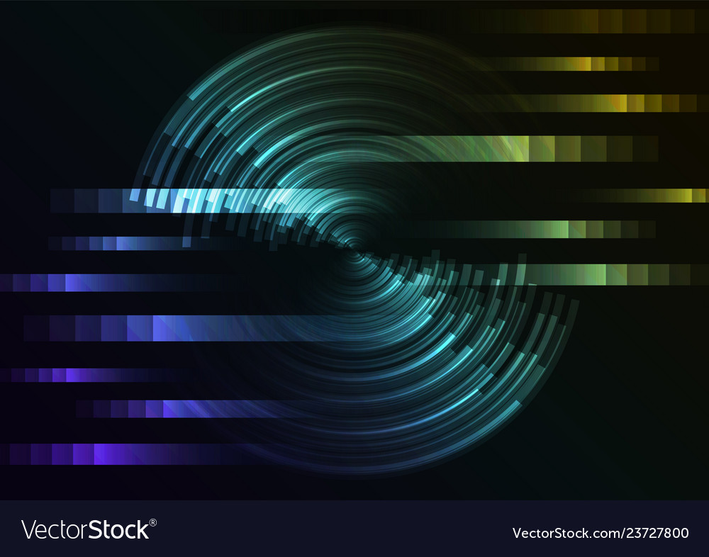 Circle digital abstract sheet layer background