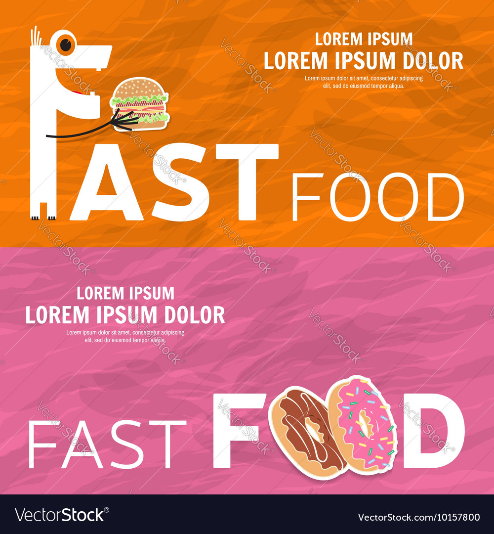 Fast food design Web banner
