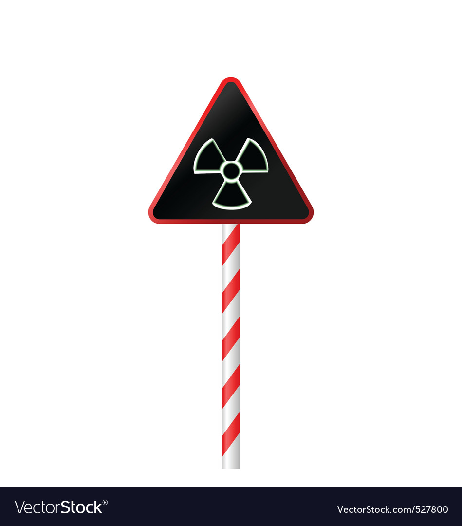 Illustration The Warning Symbol Of Radioactive Haz