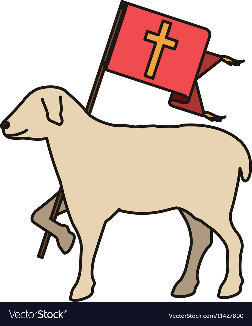 Lamb of god symbol vector image