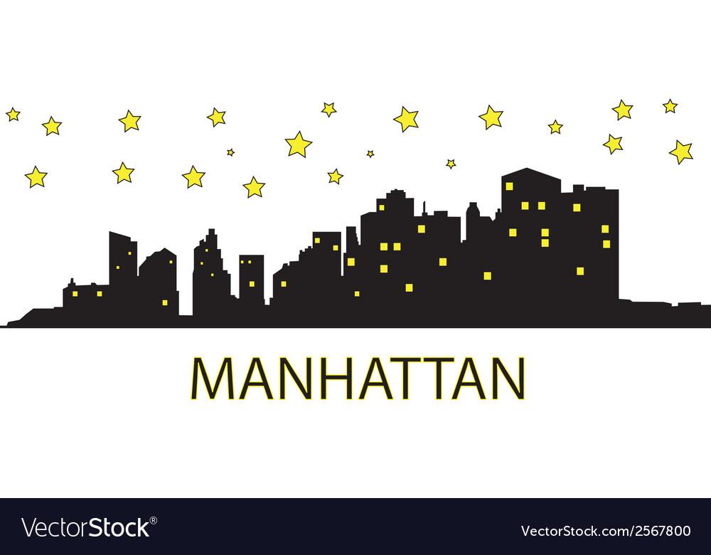Manhattan with stars