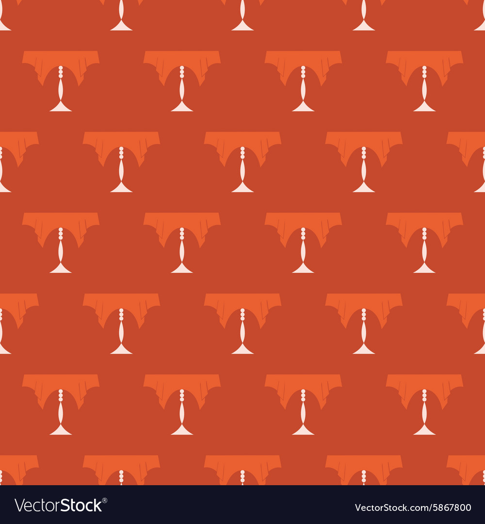 Restaurant Table Vintage Seamless Pattern
