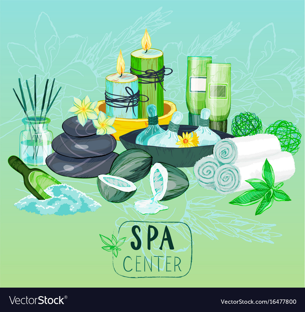 Spa background with organic products