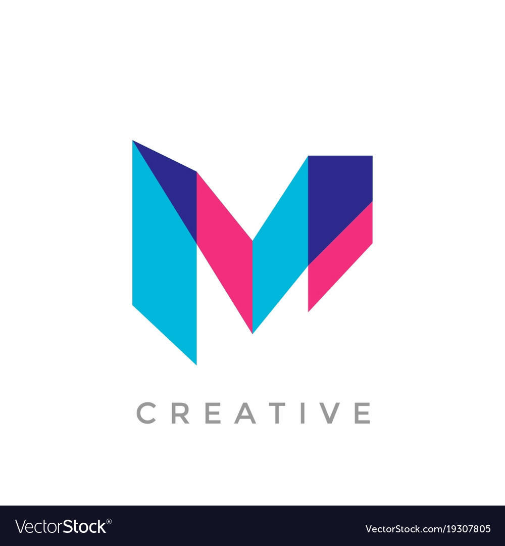 M Logo Images Abstract letter...