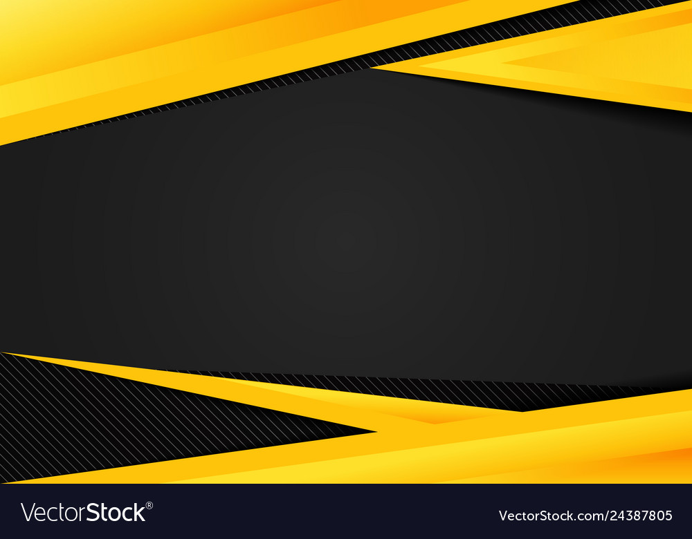 Abstract template yellow geometric triangles