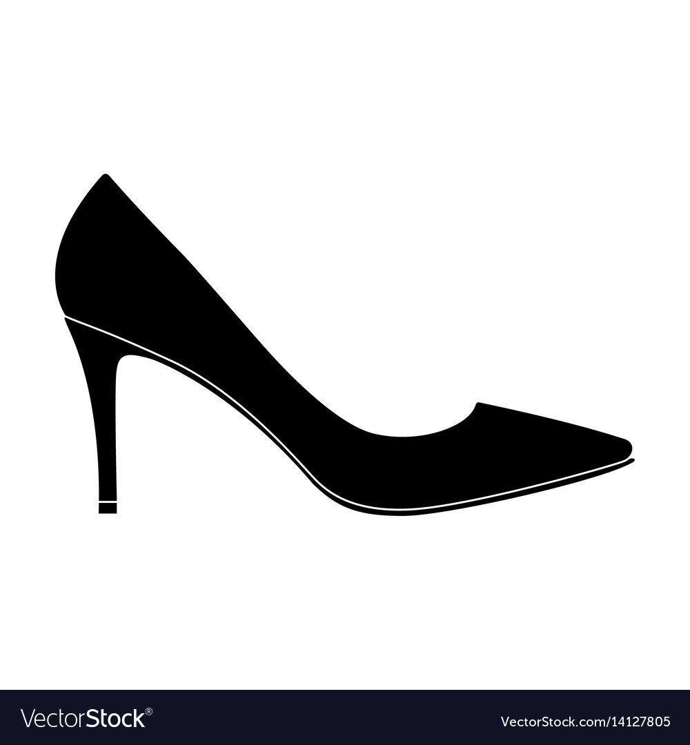 Black womens highheeled shoes exit in a dress