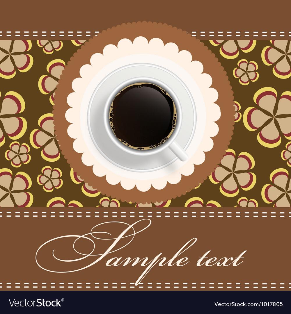 Coffee invitation background royalty free vector image coffee invitation background vector image stopboris Gallery