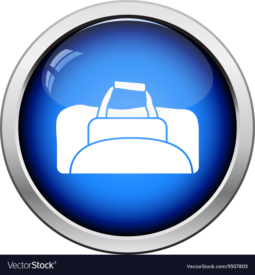 Fitness bag icon vector image