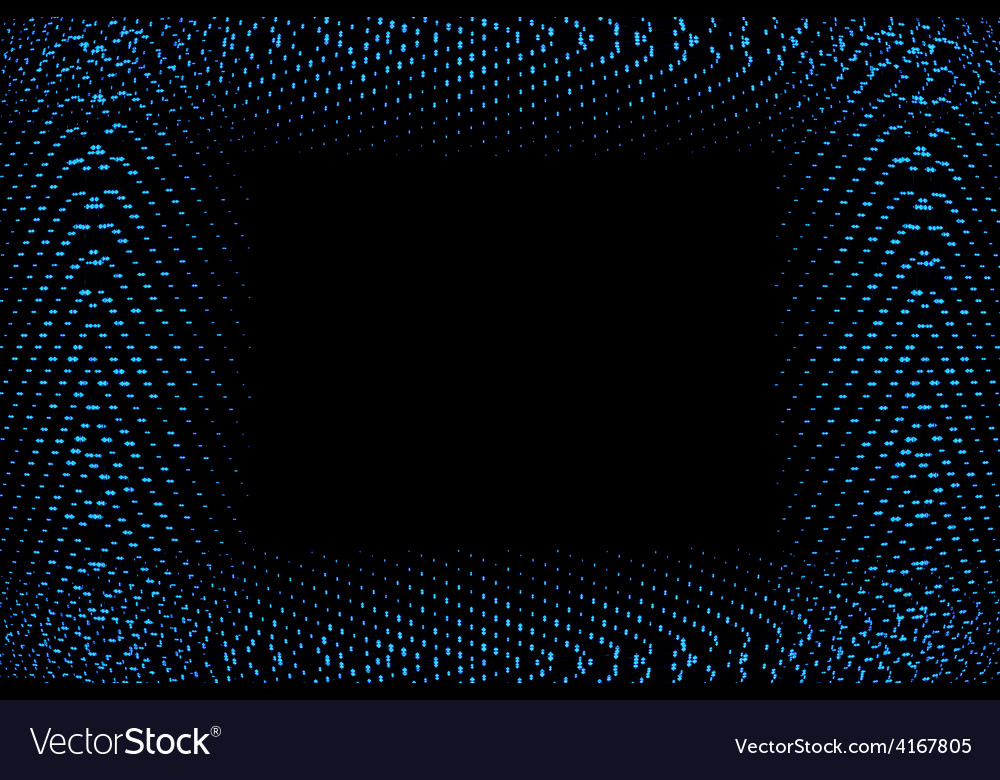 Frame of blue lights vector image