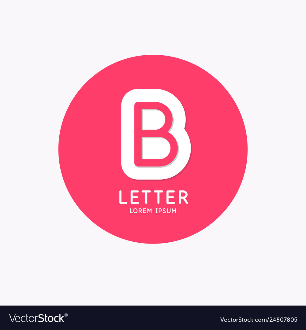 Modern linear logo and sign letter b
