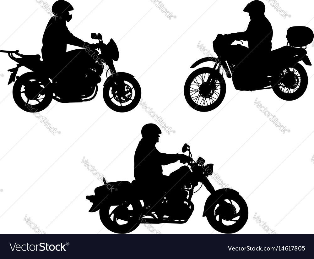 Motorcyclists silhouette