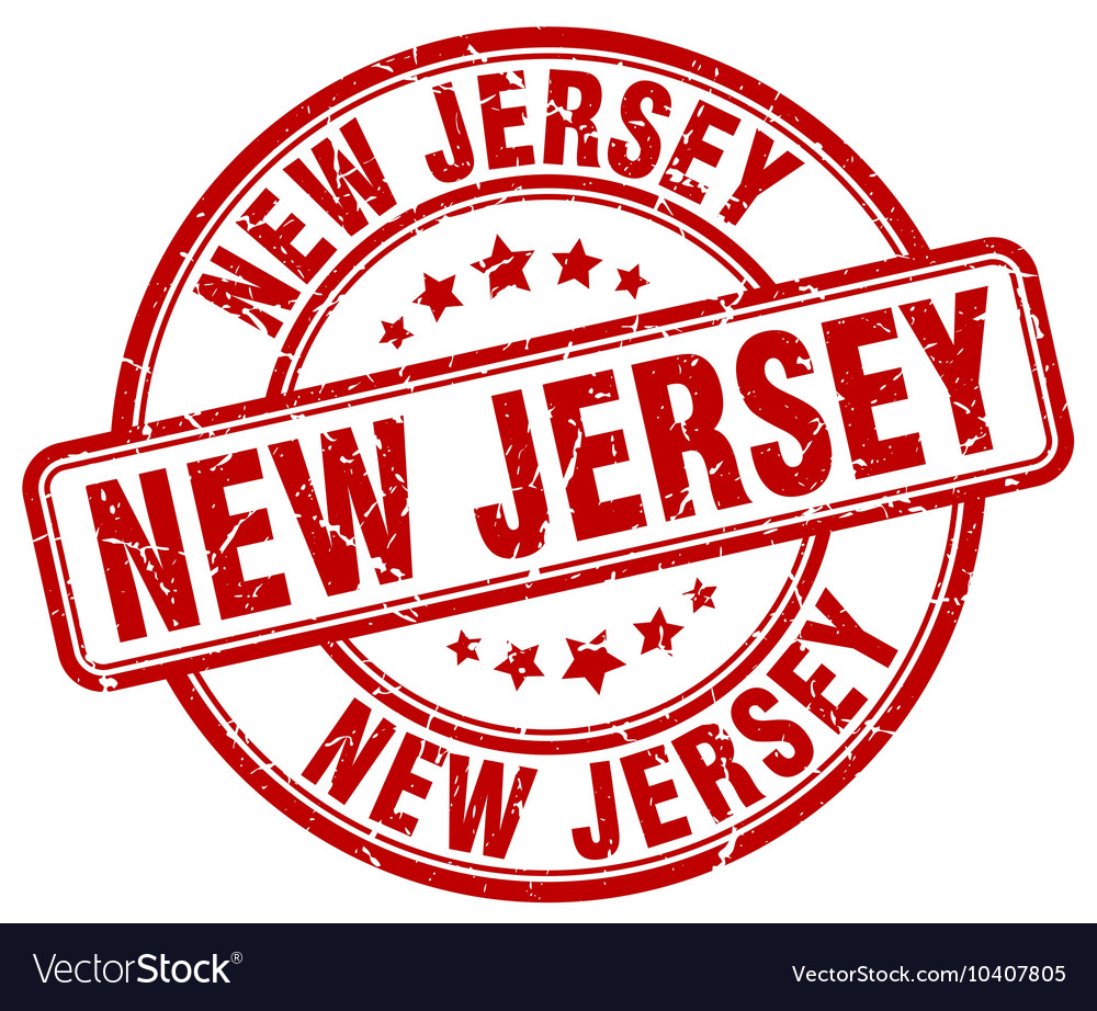 New Jersey Stamp Vector Image