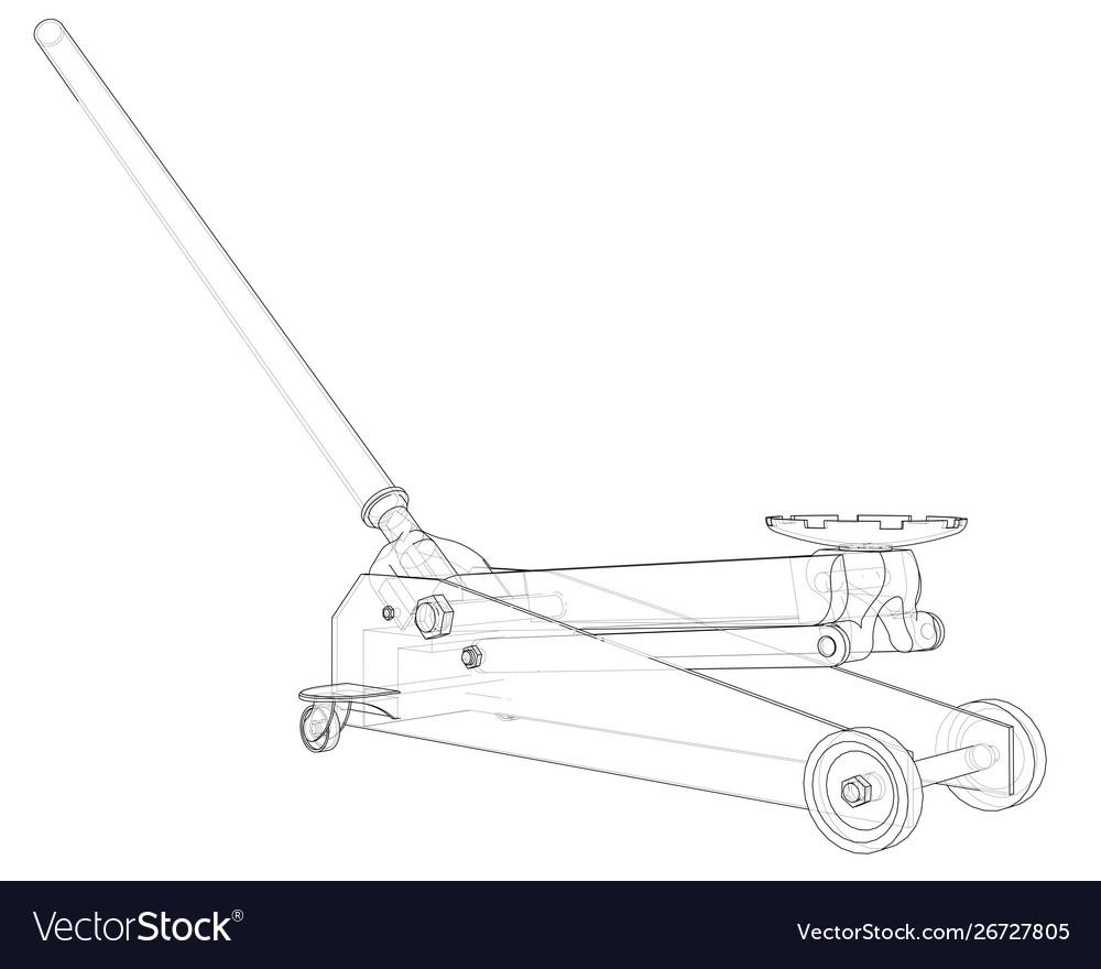 Floor Car Jack Royalty Free Vector Image