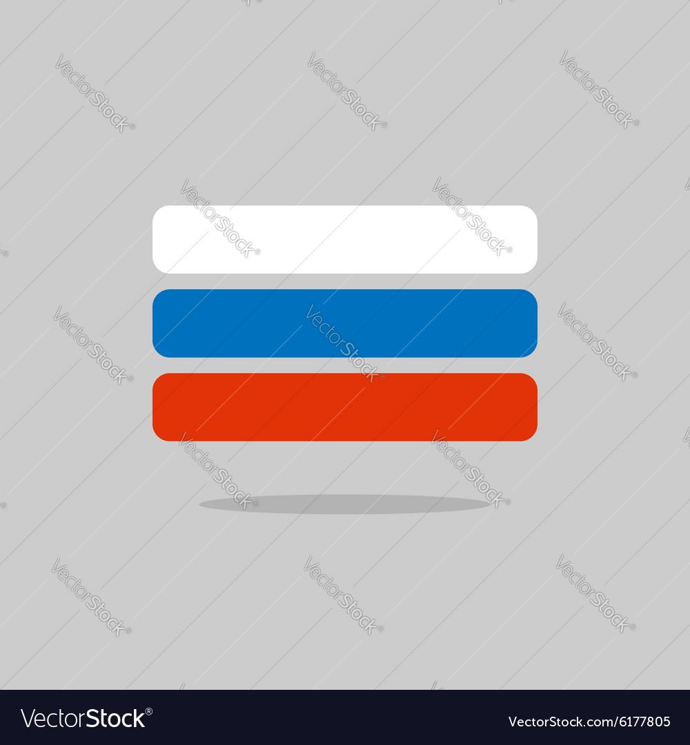 Russia flag stylized Russian Flag of geometrical