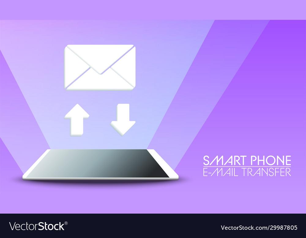 Smart phone send receive email on violet