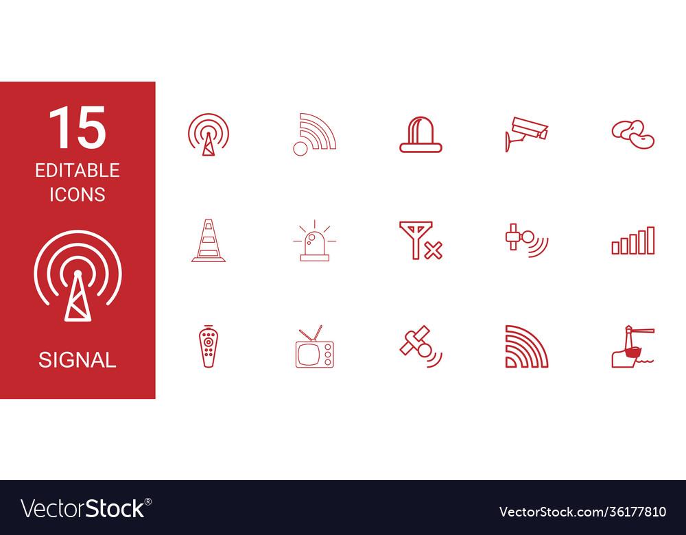 15 signal icons