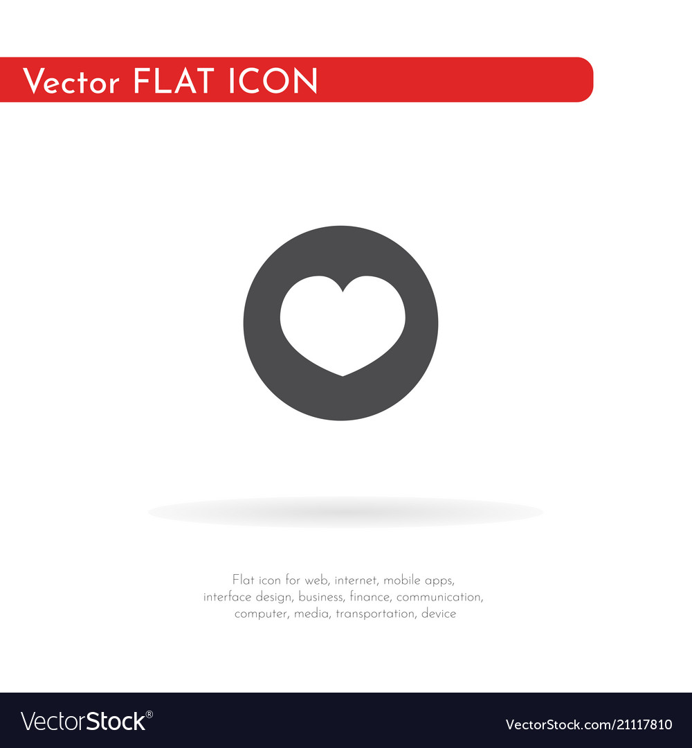 A heart icon for web business finance and