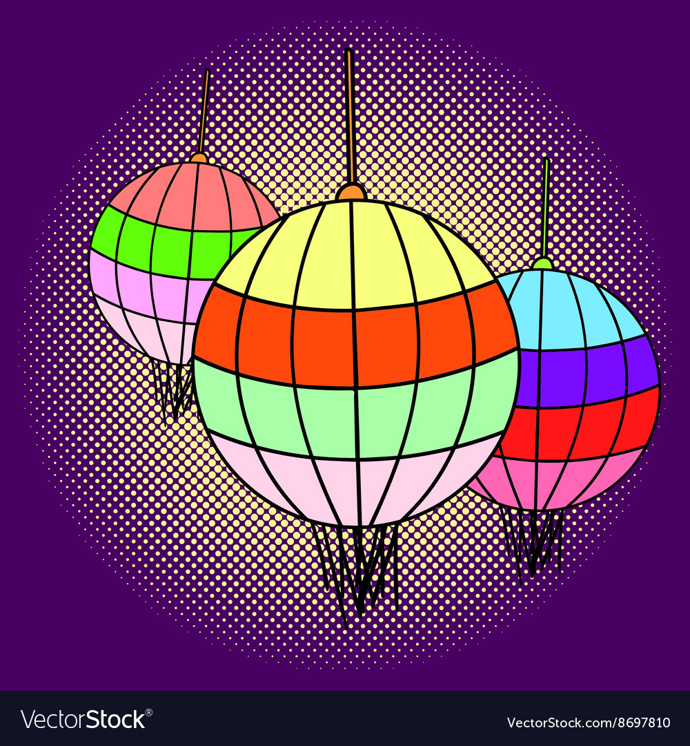 Chinese lanterns pop art