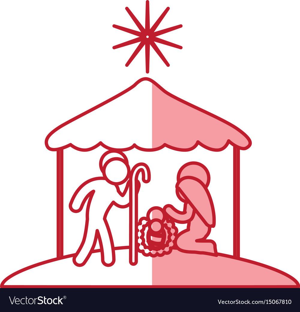 Christmas, Manger & Symbol Vector Images (80)