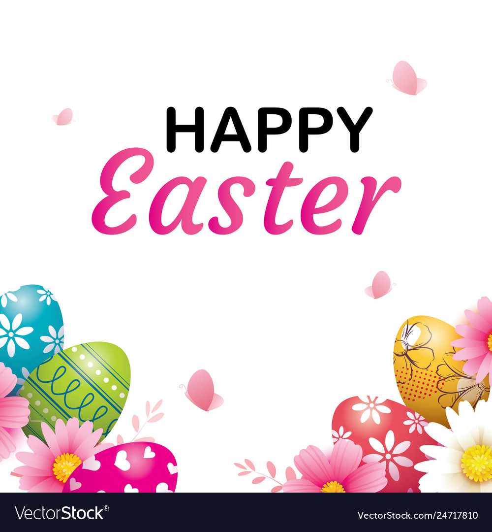 Happy easter egg greeting card background