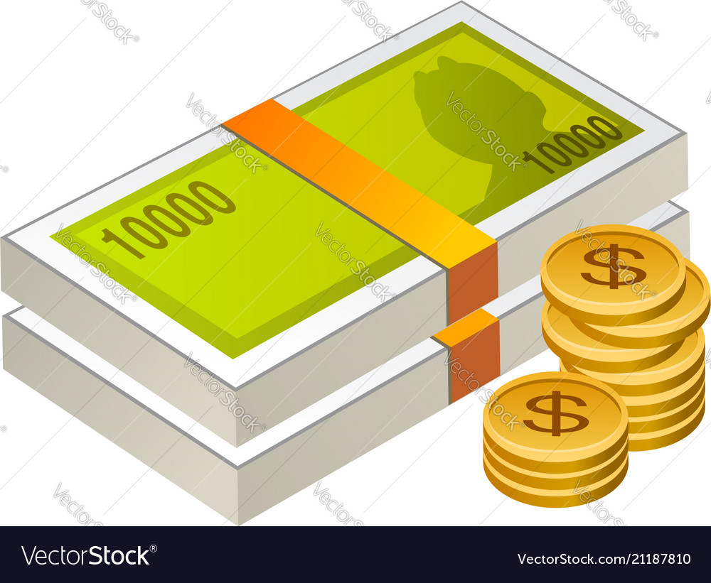 Money cash and coins isolated