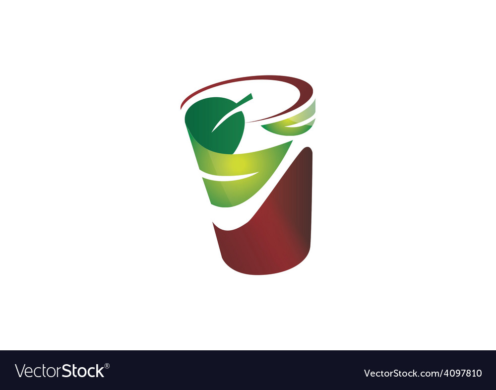 natural leaf cup friendly logo royalty free vector image