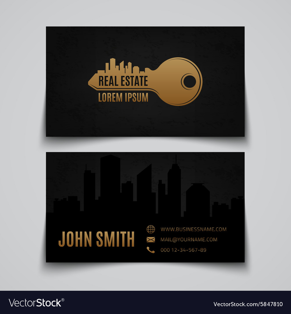real estate business card template vector image - Real Estate Business Card
