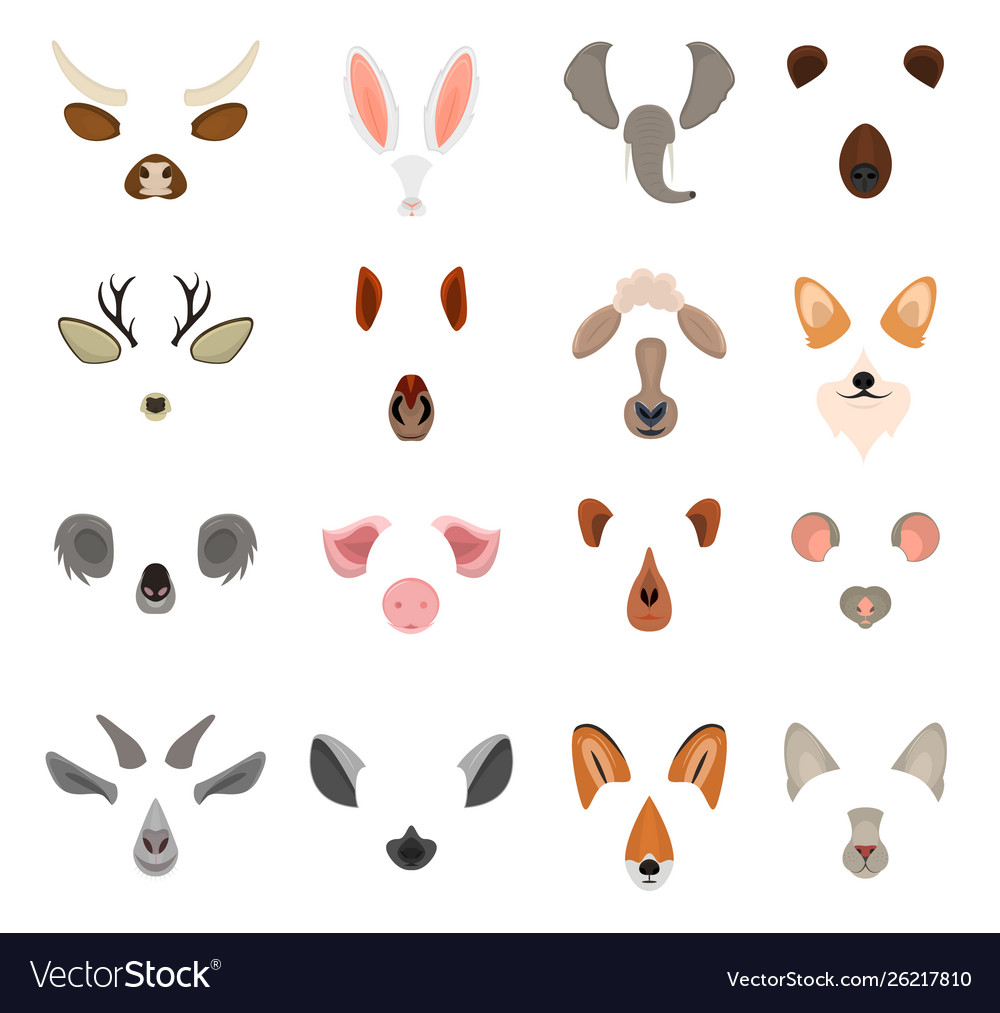 Realistic 3d detailed animal face for video chat