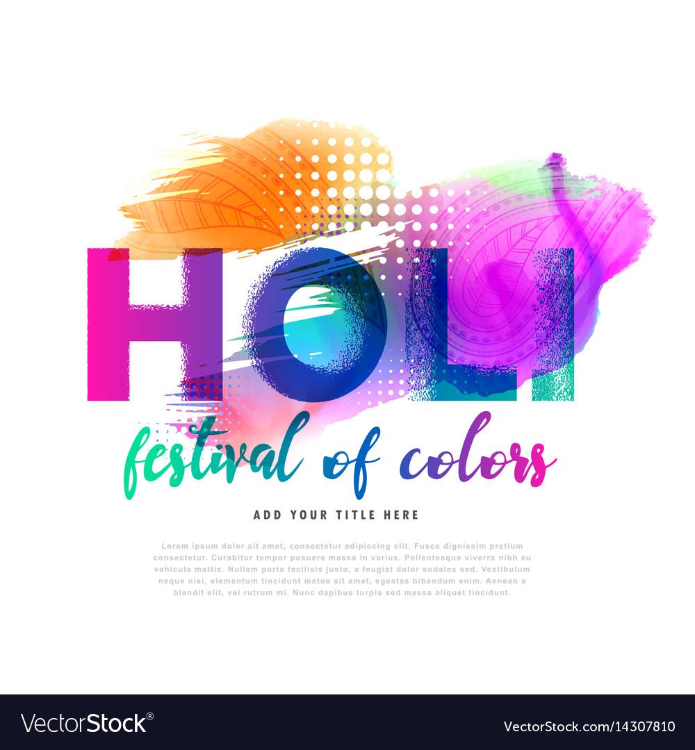 Spring holi festival colorful background design