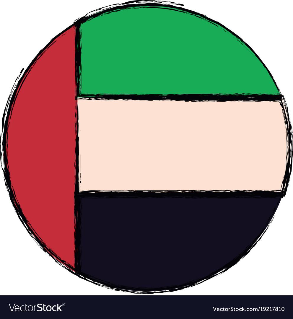 United arab emirates round icon flag