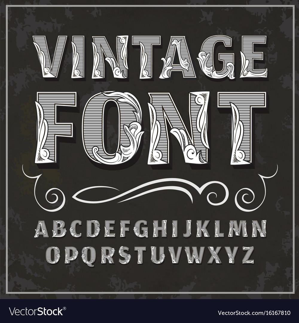 Vintage font retro font