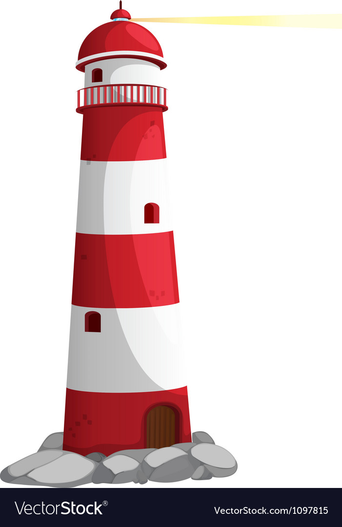 A light house vector image