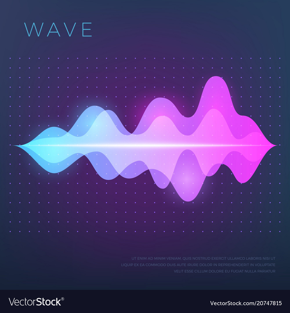 Abstract music background with sound voice