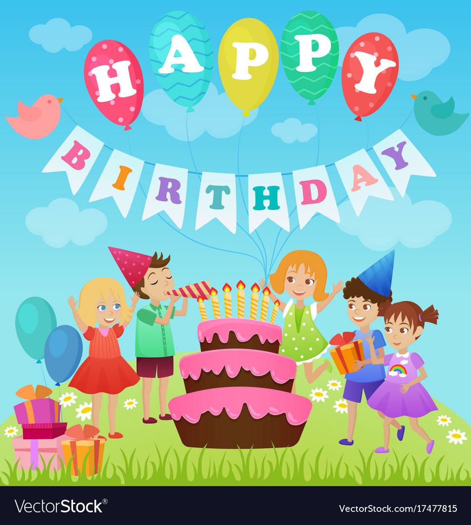 Birthday party for kids cartoon