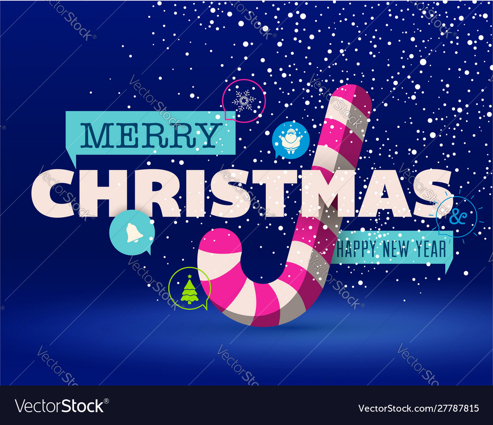 Christmas greeting card flat design