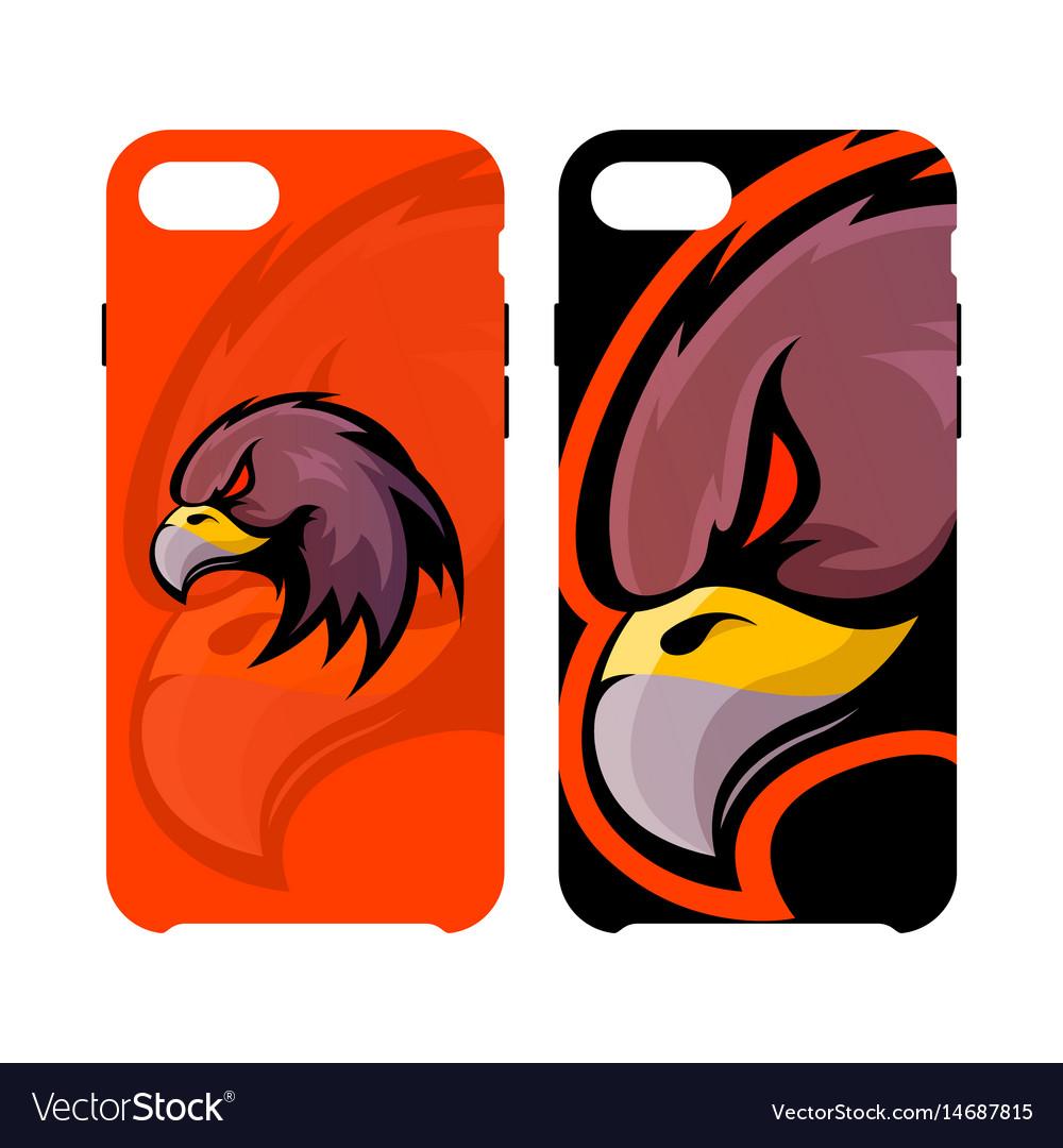 Furious eagle head sport logo concept smart vector image