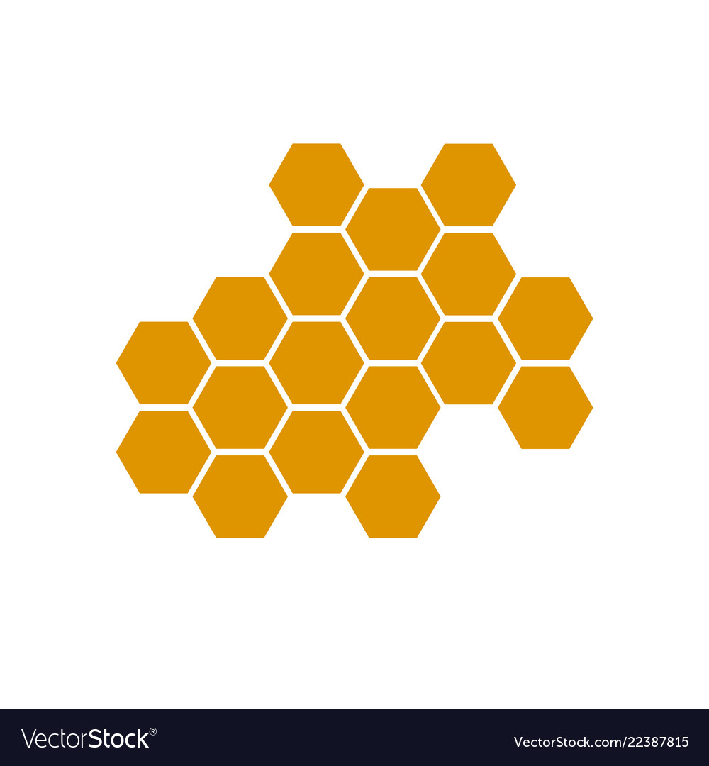 Honeycomb bee icon on white background honeycomb