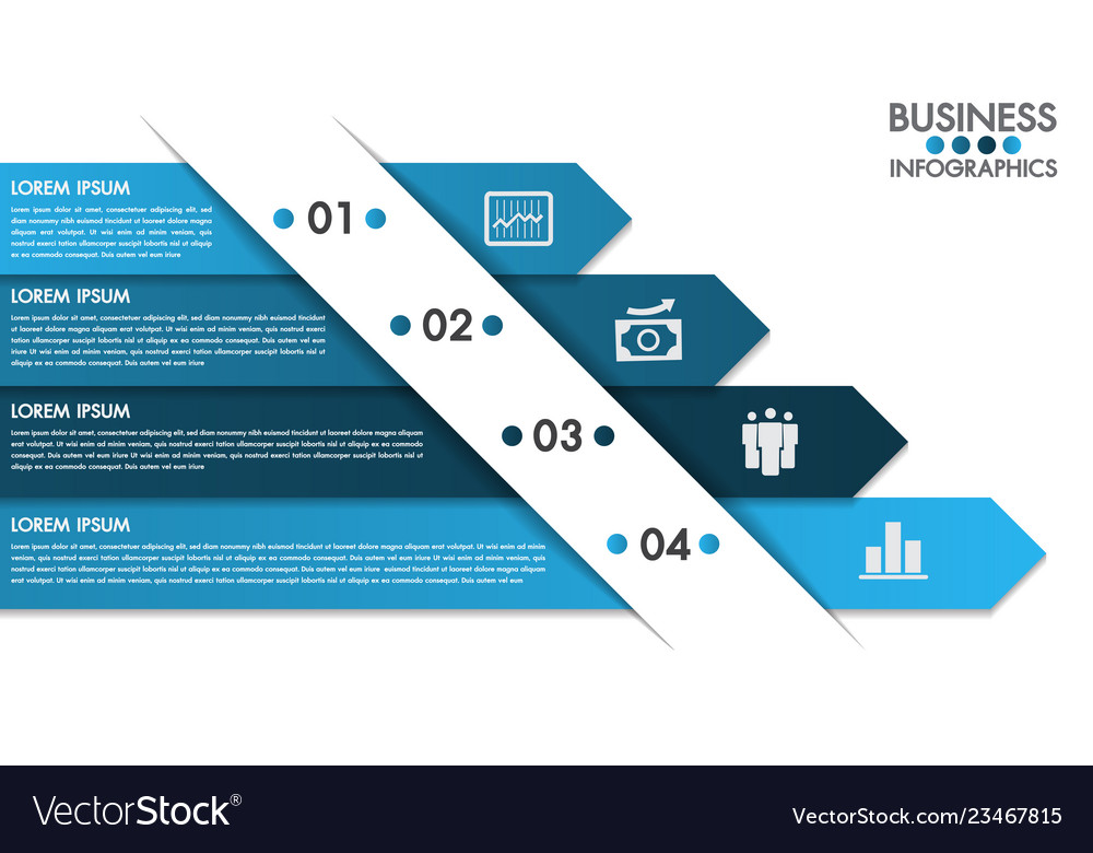 Infographics design template with 4 options