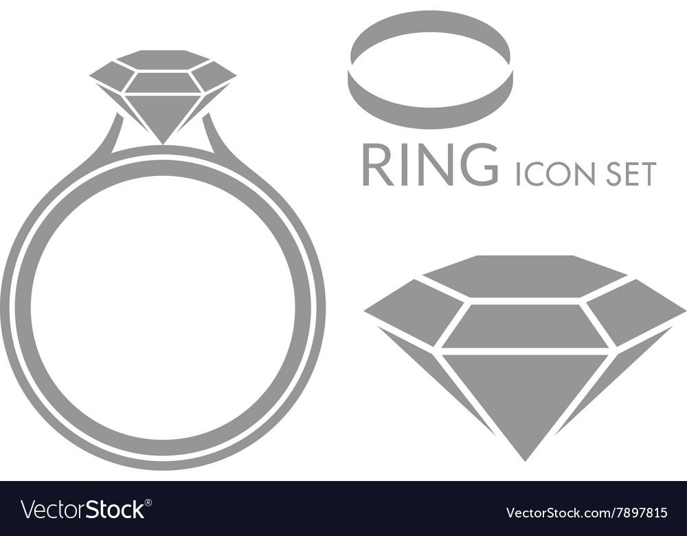 Jewelry Wedding ring Diamond Icon set