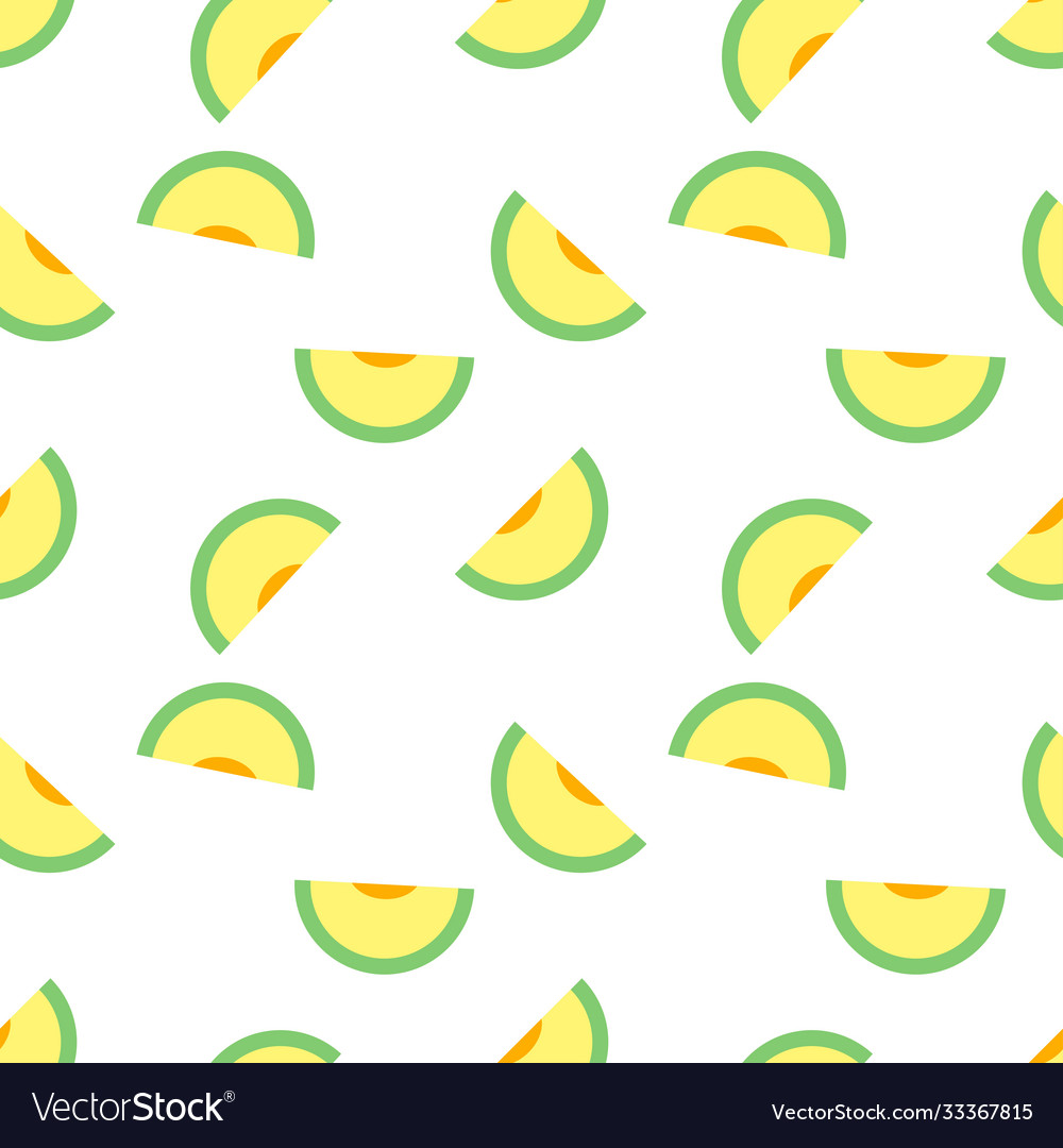 Seamless pattern with melons perfect